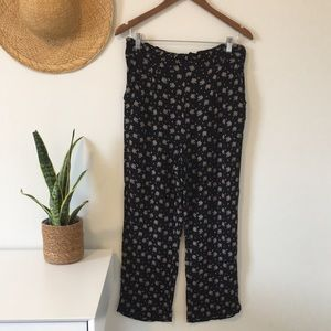 American Eagle Outfitters Floral Flowy Pants Lg